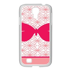 Butterfly Animals Pink Plaid Triangle Circle Flower Samsung Galaxy S4 I9500/ I9505 Case (white) by Alisyart