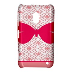 Butterfly Animals Pink Plaid Triangle Circle Flower Nokia Lumia 620 by Alisyart