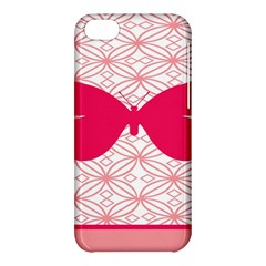 Butterfly Animals Pink Plaid Triangle Circle Flower Apple Iphone 5c Hardshell Case by Alisyart