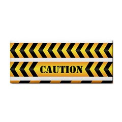 Caution Road Sign Warning Cross Danger Yellow Chevron Line Black Cosmetic Storage Cases by Alisyart