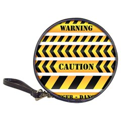 Caution Road Sign Warning Cross Danger Yellow Chevron Line Black Classic 20 Cd Wallets by Alisyart
