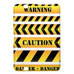 Caution Road Sign Warning Cross Danger Yellow Chevron Line Black Kindle Fire Hd 8 9  by Alisyart