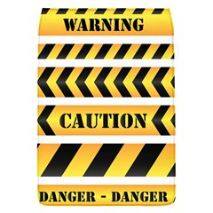 Caution Road Sign Warning Cross Danger Yellow Chevron Line Black Flap Covers (s)  by Alisyart