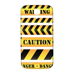 Caution Road Sign Warning Cross Danger Yellow Chevron Line Black Samsung Galaxy S4 I9500/i9505  Hardshell Back Case by Alisyart