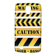 Caution Road Sign Warning Cross Danger Yellow Chevron Line Black Galaxy S4 Active by Alisyart