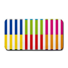 Color Bars Rainbow Green Blue Grey Red Pink Orange Yellow White Line Vertical Medium Bar Mats by Alisyart