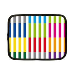 Color Bars Rainbow Green Blue Grey Red Pink Orange Yellow White Line Vertical Netbook Case (small)  by Alisyart