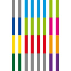 Color Bars Rainbow Green Blue Grey Red Pink Orange Yellow White Line Vertical 5 5  X 8 5  Notebooks by Alisyart