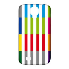 Color Bars Rainbow Green Blue Grey Red Pink Orange Yellow White Line Vertical Samsung Galaxy S4 Classic Hardshell Case (pc+silicone) by Alisyart