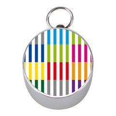 Color Bars Rainbow Green Blue Grey Red Pink Orange Yellow White Line Vertical Mini Silver Compasses by Alisyart