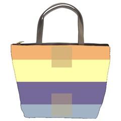 Color Therey Orange Yellow Purple Blue Bucket Bags by Alisyart
