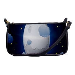 Cloud Moon Star Blue Sky Night Light Shoulder Clutch Bags by Alisyart