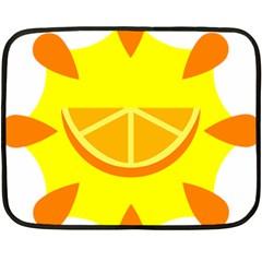 Citrus Cutie Request Orange Limes Yellow Fleece Blanket (mini) by Alisyart