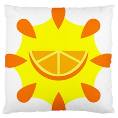 Citrus Cutie Request Orange Limes Yellow Standard Flano Cushion Case (one Side) by Alisyart