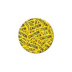 Caution Road Sign Cross Yellow Golf Ball Marker by Alisyart