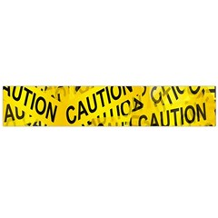 Caution Road Sign Cross Yellow Flano Scarf (large) by Alisyart