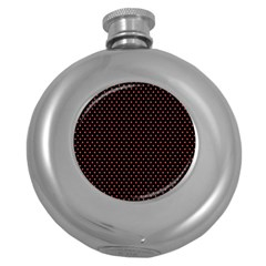 Colored Circle Red Black Round Hip Flask (5 Oz) by Alisyart