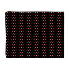 Colored Circle Red Black Cosmetic Bag (xl) by Alisyart