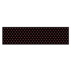 Colored Circle Red Black Satin Scarf (oblong) by Alisyart