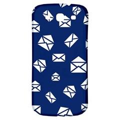 Envelope Letter Sand Blue White Masage Samsung Galaxy S3 S Iii Classic Hardshell Back Case by Alisyart
