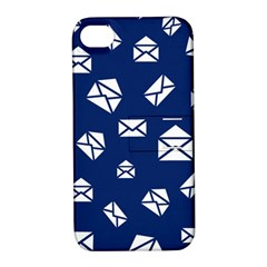 Envelope Letter Sand Blue White Masage Apple Iphone 4/4s Hardshell Case With Stand by Alisyart