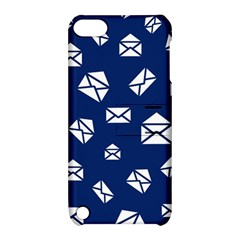 Envelope Letter Sand Blue White Masage Apple Ipod Touch 5 Hardshell Case With Stand by Alisyart
