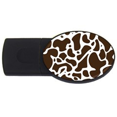 Dalmantion Skin Cow Brown White Usb Flash Drive Oval (2 Gb) by Alisyart