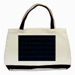 Colored Line Light Triangle Plaid Blue Black Basic Tote Bag by Alisyart
