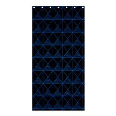 Colored Line Light Triangle Plaid Blue Black Shower Curtain 36  X 72  (stall)  by Alisyart