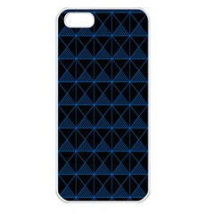 Colored Line Light Triangle Plaid Blue Black Apple Iphone 5 Seamless Case (white) by Alisyart