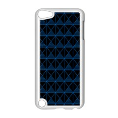 Colored Line Light Triangle Plaid Blue Black Apple Ipod Touch 5 Case (white) by Alisyart