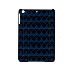 Colored Line Light Triangle Plaid Blue Black Ipad Mini 2 Hardshell Cases by Alisyart