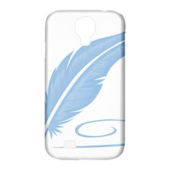 Feather Pen Blue Light Samsung Galaxy S4 Classic Hardshell Case (pc+silicone) by Alisyart