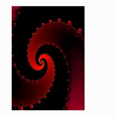 Red Fractal Spiral Large Garden Flag (two Sides) by Simbadda