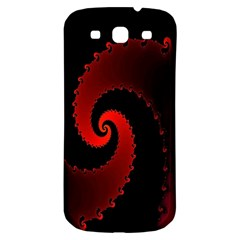 Red Fractal Spiral Samsung Galaxy S3 S Iii Classic Hardshell Back Case by Simbadda