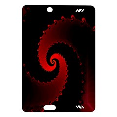 Red Fractal Spiral Amazon Kindle Fire Hd (2013) Hardshell Case by Simbadda