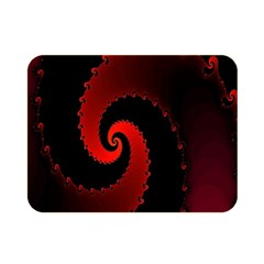 Red Fractal Spiral Double Sided Flano Blanket (mini)  by Simbadda
