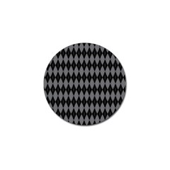 Chevron Wave Line Grey Black Triangle Golf Ball Marker (4 Pack) by Alisyart