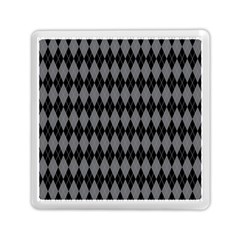 Chevron Wave Line Grey Black Triangle Memory Card Reader (square)  by Alisyart