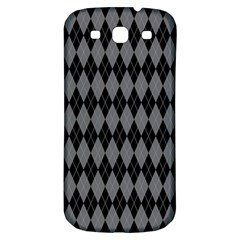 Chevron Wave Line Grey Black Triangle Samsung Galaxy S3 S Iii Classic Hardshell Back Case by Alisyart