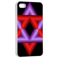 Star Of David Apple Iphone 4/4s Seamless Case (white) by Simbadda
