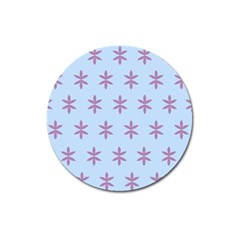 Flower Floral Different Colours Blue Purple Magnet 3  (round) by Alisyart