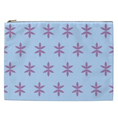 Flower Floral Different Colours Blue Purple Cosmetic Bag (xxl)  by Alisyart