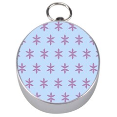 Flower Floral Different Colours Blue Purple Silver Compasses by Alisyart