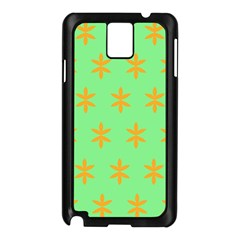 Flower Floral Different Colours Green Orange Samsung Galaxy Note 3 N9005 Case (black) by Alisyart