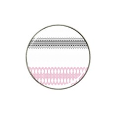 Crown King Quinn Chevron Wave Pink Black Hat Clip Ball Marker (10 Pack) by Alisyart