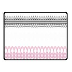 Crown King Quinn Chevron Wave Pink Black Double Sided Fleece Blanket (small)  by Alisyart