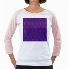 Flower Floral Different Colours Purple Orange Girly Raglans by Alisyart