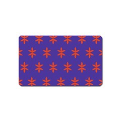 Flower Floral Different Colours Purple Orange Magnet (name Card) by Alisyart