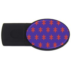 Flower Floral Different Colours Purple Orange Usb Flash Drive Oval (4 Gb) by Alisyart